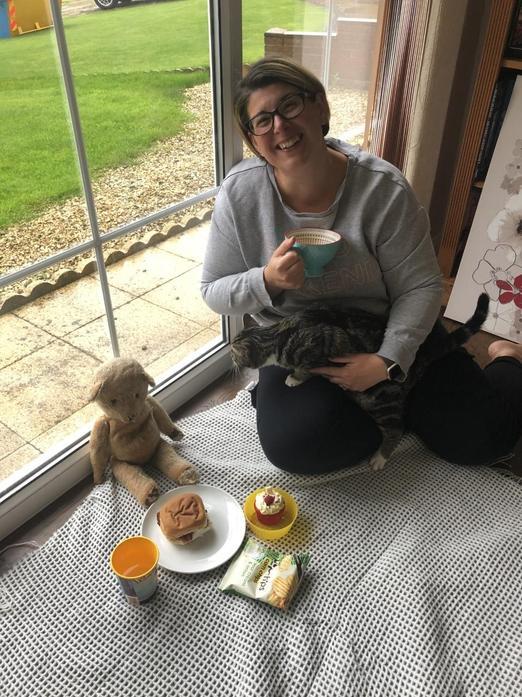 Mrs Jennings, Teddy Edward and Bear the cat!