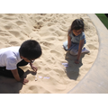 Finding letters in the sand for literacy