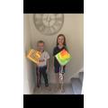 Rainbow kites!