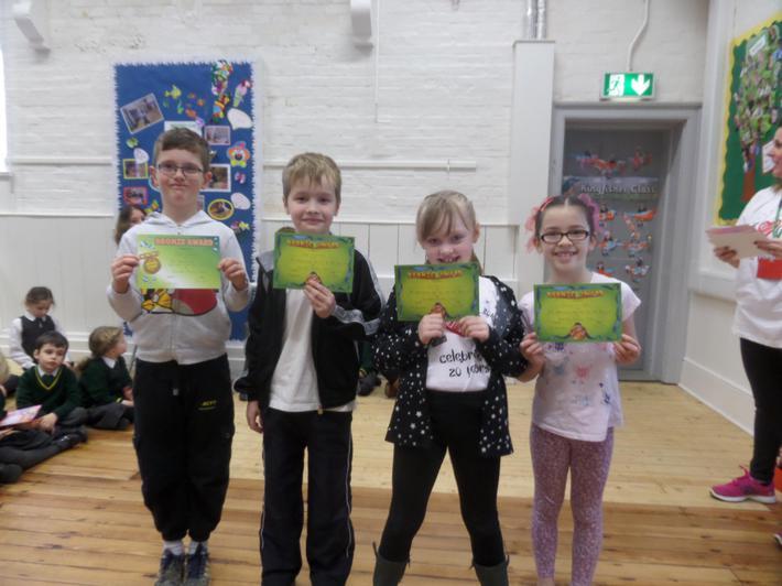 Yr 3 & 4 Bronze Certificate 98% Attendance