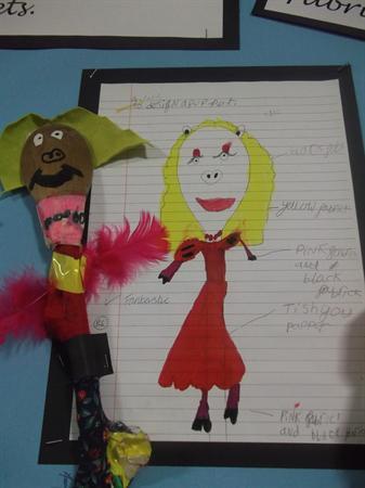 Lara, Year 2 : Designing and making a puppet.