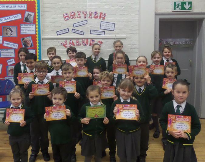 Bronze Certificates 97% Attendance