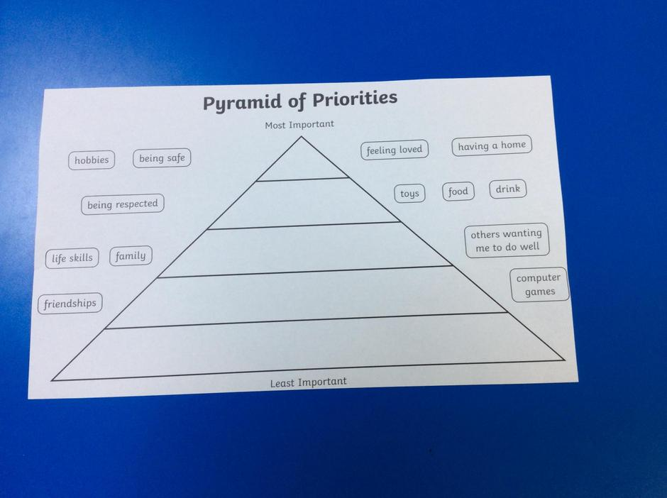 Complete the pyramid