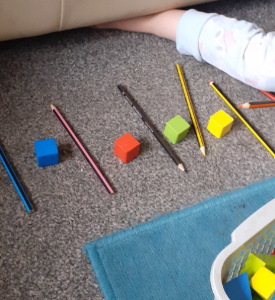 Creating a pattern using objects at home