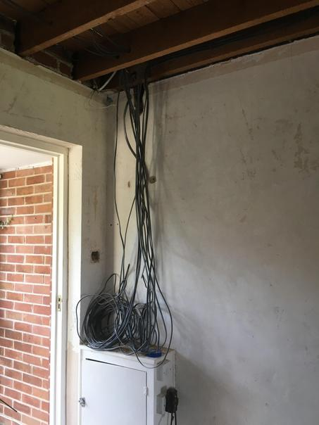 The new electrics going in - I couldn't believe how many wires there were
