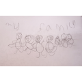 Toby's drawing of his family.