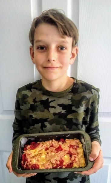 Jacob's Raspberry and White Chocolate Cake