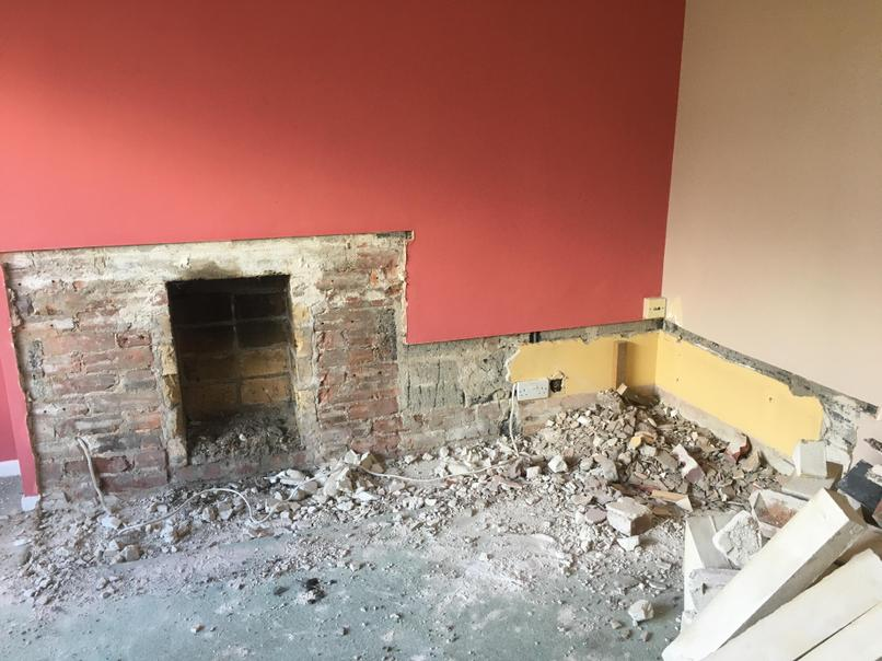 After we took out the fireplace
