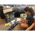 Elle's Lego challenge.