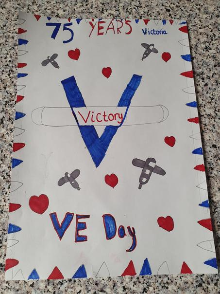 Victoria P VE Day Poster