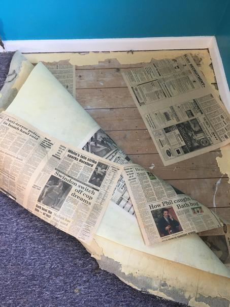 We found newspapers from 1994 under the carpets