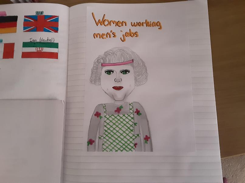 Chloe's poster showing the role of women