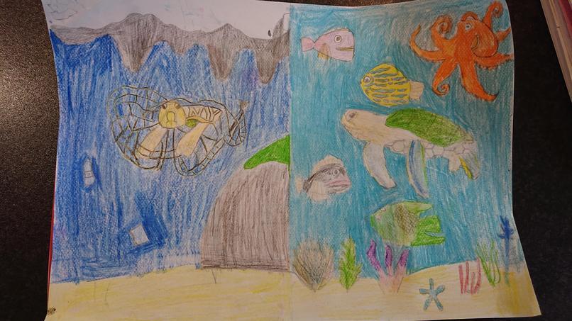 Reegan's Artwork on the Ocean