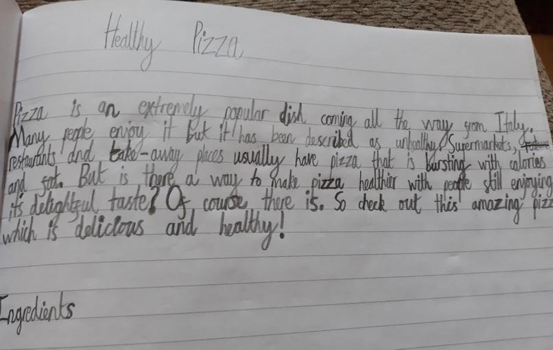 James' Healthy Pizza Recipe