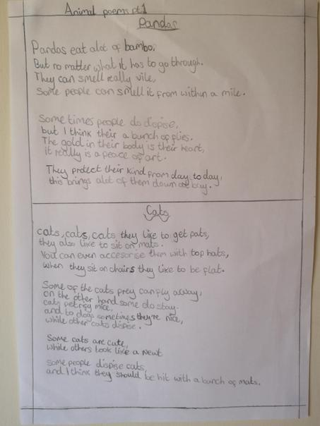 More great poetry writing from Gabby...