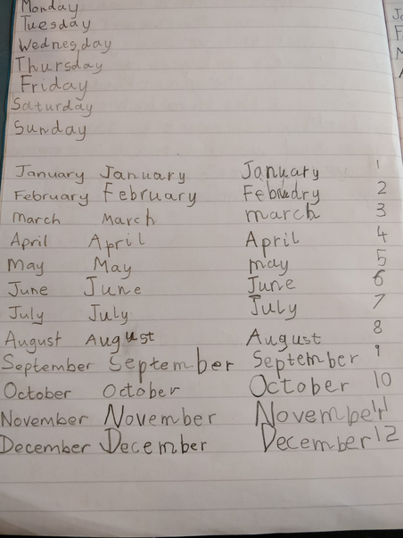 1RN Olivia H Spelling days of the week and months of the year.png