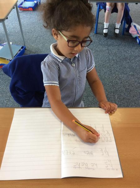 RAN - Claudia B - concentrating on her handwriting.JPG
