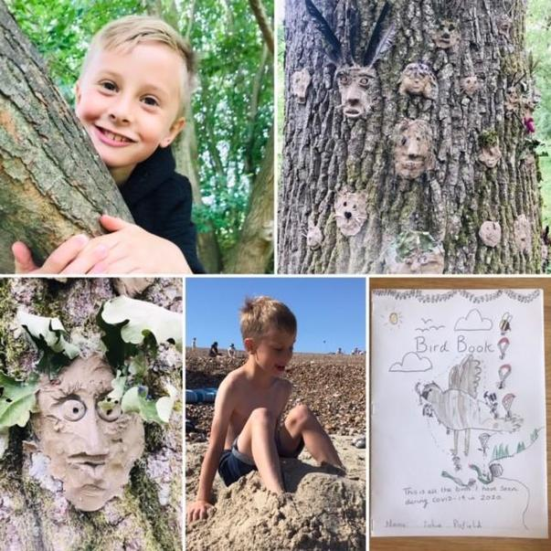 2JA Josh B exploring the woods and creating a bird book.jpg