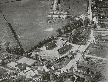 Aerial view of the school (1920s)