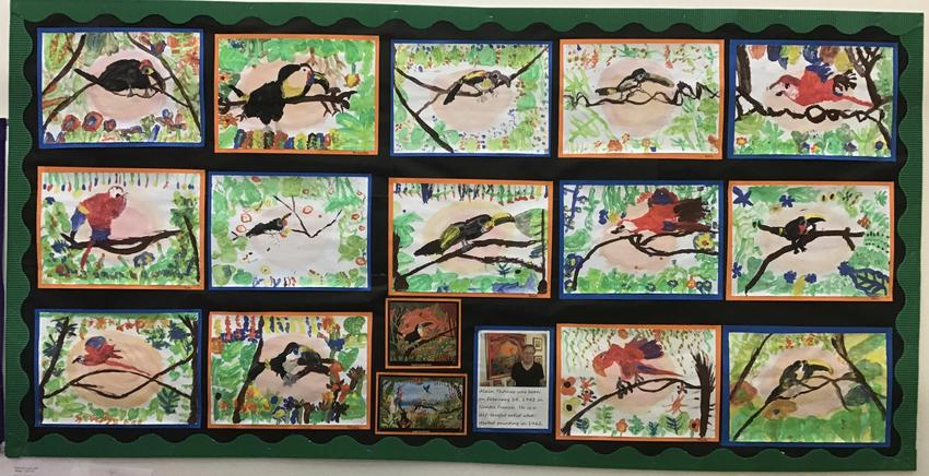 Alain Thomas inspired rainforest paintings