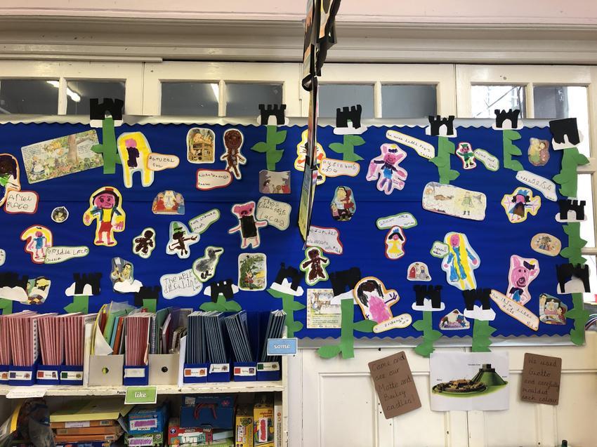 We drew and labelled our favourite fairy tale characters