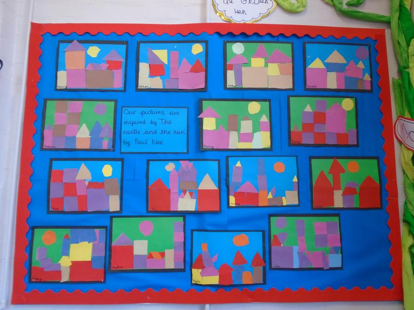 Art in the style of Paul Klee