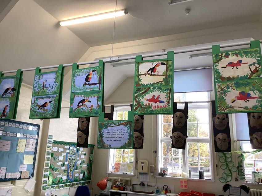 Alain Thomas rainforest paintings