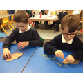 Sewing Autumn leaves Year 1