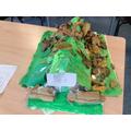 Design and make a model air raid shelter