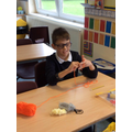Year 5 WWI Make Do and Mend Finger Knitting