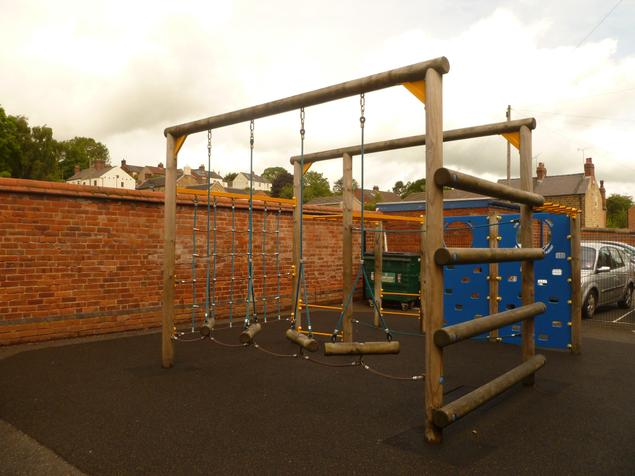 Climbing Frame on the school playground