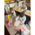 I was so impressed at how accurate the children were with their paintings!