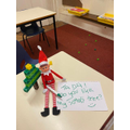 Day 2- It looks like our Elf has been playing with our cubes, he's even made an xmas tree