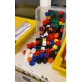 Day 2- It looks like our Elf has been playing with our cubes, he's even made an xmas tree!