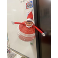 Day 7- Our elf had a little game of hide and seek today, turns out he was in the lantern!
