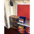Class library and book quarantine box.