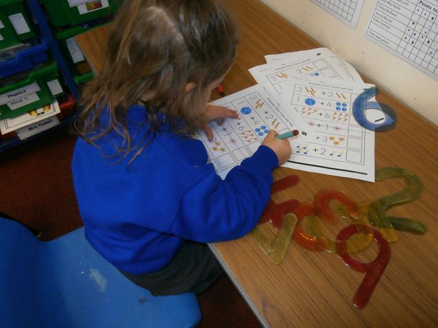 Practising number work