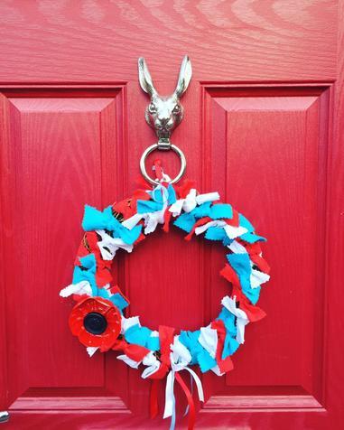 Mrs Colman's VE Day wreathe