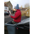 Mrs Duffin read whilst chilling in the bin!