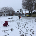 We played for ten minutes in the snow on Friday! It was so much fun!