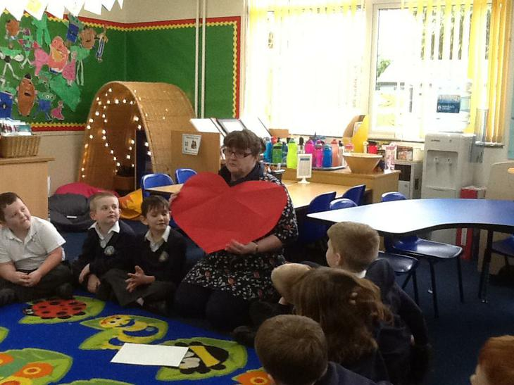 Children learnt a poem to remember to be kind.