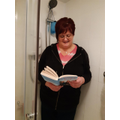Mrs Harrington read in the shower!