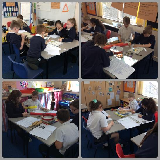 Here we are composing and performing our own music