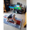 Enjoying some yoga