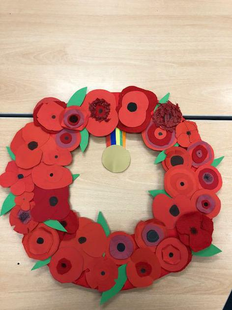 Our poppy wreath for Winchester Cathedral