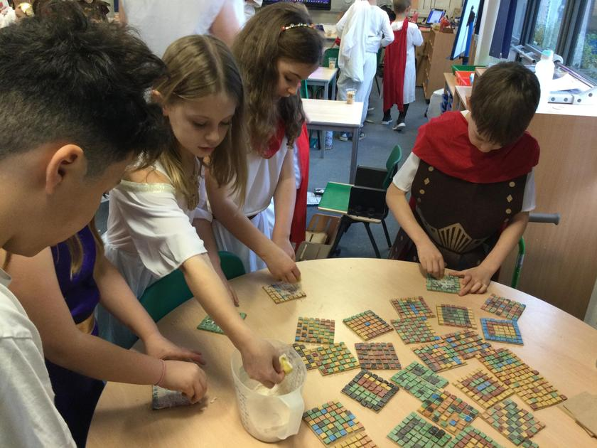 making our mosaics