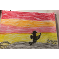 Maisie's WW1 Art Homework