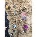 A miniature seaside scene