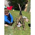 A stick house