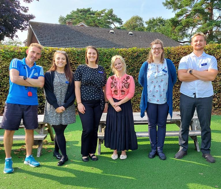 Mr Levett, Miss Atkinson, Mrs Peacock, Mrs Clements, Miss Fletcher, Mr Whale.